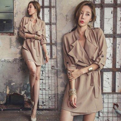 韓國 好質感名媛修身性感襯衫 連身洋裝 GSSAW.AJ 【JKQ0948】