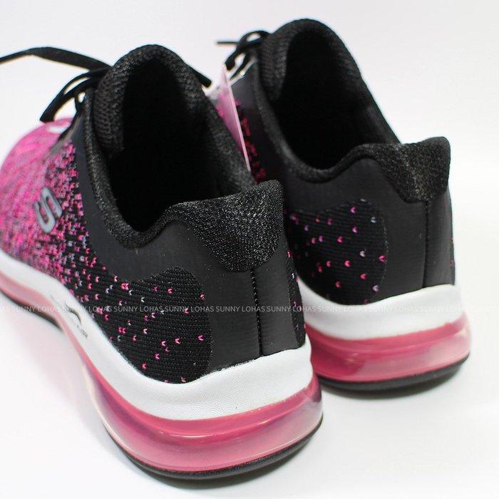 (B2)SKECHERS 慢跑鞋 Skech-Air Element 女鞋 全腳掌氣墊 149042BKHP [迦勒]