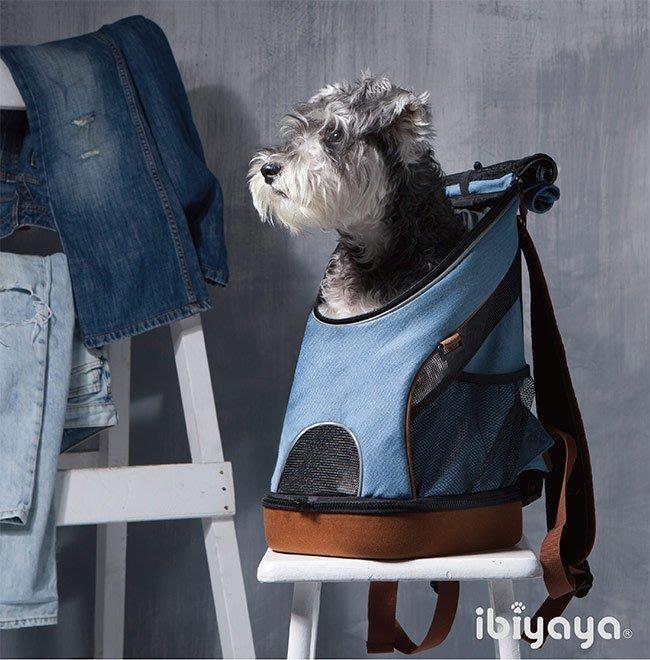 COCO《促銷》Ibiyaya單寧瘋輕量寵物前/後背包FC1631-D寵物牛仔布包/小型犬貓外出包/依比呀呀