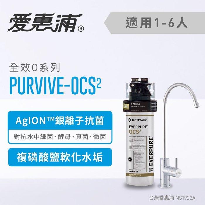 (全省免費原廠安裝) 愛惠浦 Everpure PurVive-OCS(2) 抗菌軟垢
