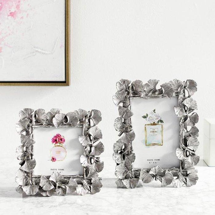奇居良品 復古法式歐式婚紗照掛墻相框擺台畫框裝飾 復古葉子相框 免運費