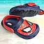 正品Spider-Man蜘蛛人閃光電燈布希鞋 花園鞋 輕量舒適可涉水