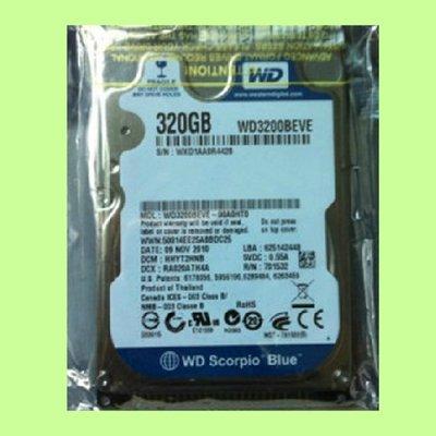 5Cgo【權宇】WD WD3200 2.5吋 320G 320GB IDE 5400 8M 筆電用硬碟 含稅會員扣5%