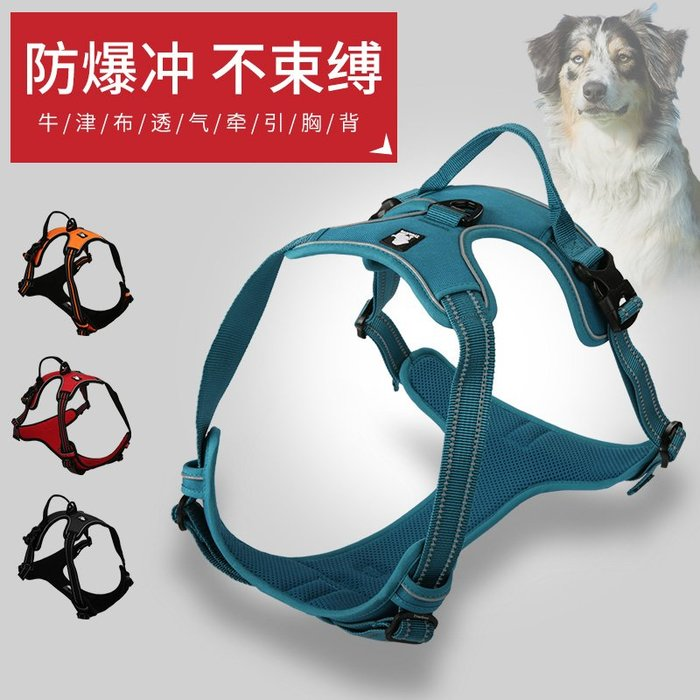 狗繩 項圈 背心式遛狗狗牽引繩拉布拉多金毛泰迪小中型大型犬狗鏈子胸背帶