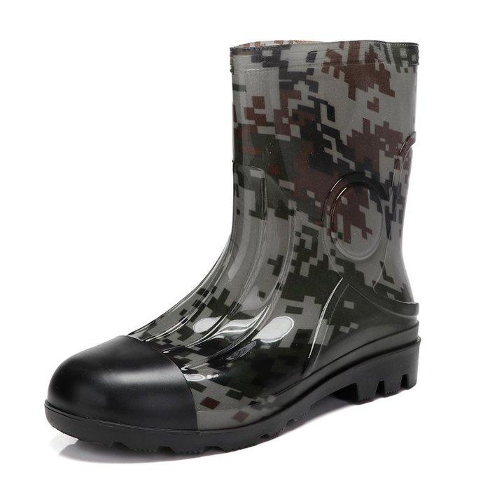 999春夏耐磨雨鞋男士保暖水靴加厚防滑絨低中高筒釣魚塑膠廚勞保套鞋YC0310