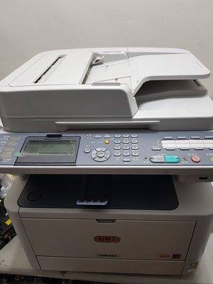 OKI MB451 二手黑白雷射傳真複合機,可雙面影印,雙面列印,高階傳真複合機