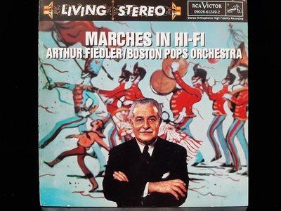 MARCHES IN HI-FI,FIEDLER/BOSTON POPS ORCH,VERDI etc,高音質進行曲,費德勒/波士頓管弦,威爾第-大進行曲等。