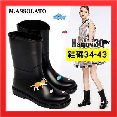 女生防水雨鞋中筒雨鞋中筒雨靴防水高筒雨鞋可愛風-多款35-39【AAA2154】預購