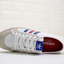 D-BOX Adidas Nizza Lo 帆布鞋 校園 奶油底 白色 綠線 紅線 休閑板鞋