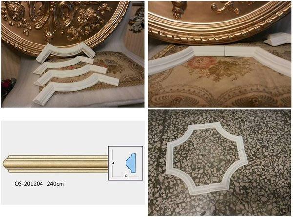 歐式 PU素面線板 平線板 裝飾鏡框 框邊 佈告欄修飾 門框 衣櫃框 門框飾條 套組 (白色底色)CH-27