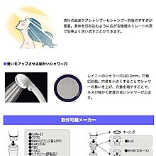 『幸福廚衛生活館』日本製 SAN-EI RAINY 三栄水栓製作所 PS303-80XA 白色款 超細水流 蓮蓬頭把手
