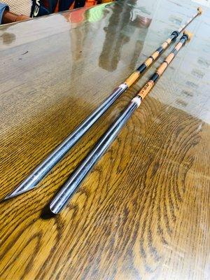 日本製 三十年前早期的鋁製 元受 竿掛 掛竿 竿掛架 掛竿架  岸拋竿竿掛 全新 稀少 免運費可刷卡