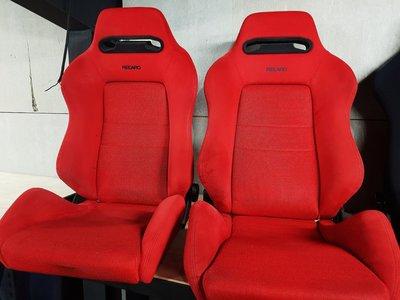 中古美品 Recaro EK9 紅色麂皮 賽車椅~K8.K6.CIVIC.16V.JDM.DC2.DC5.HONDA.