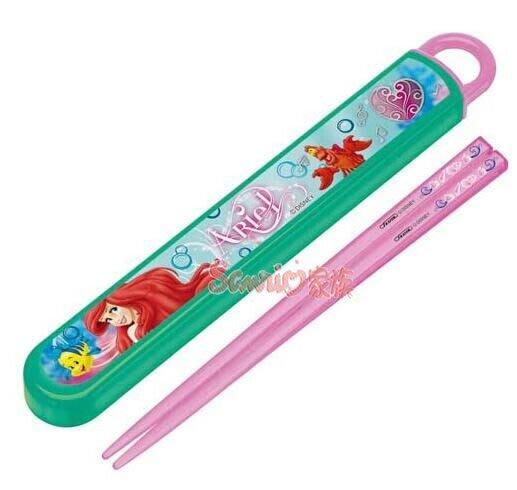 《東京家族》迪士尼 小美人魚 粉色 筷子 附盒