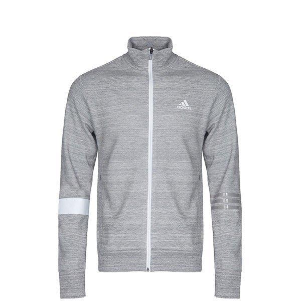運動GO~ Adidas 愛迪達 SV TT Slogan BR0223 立領 針織 運動 外套 男款 休閒 穿搭 灰