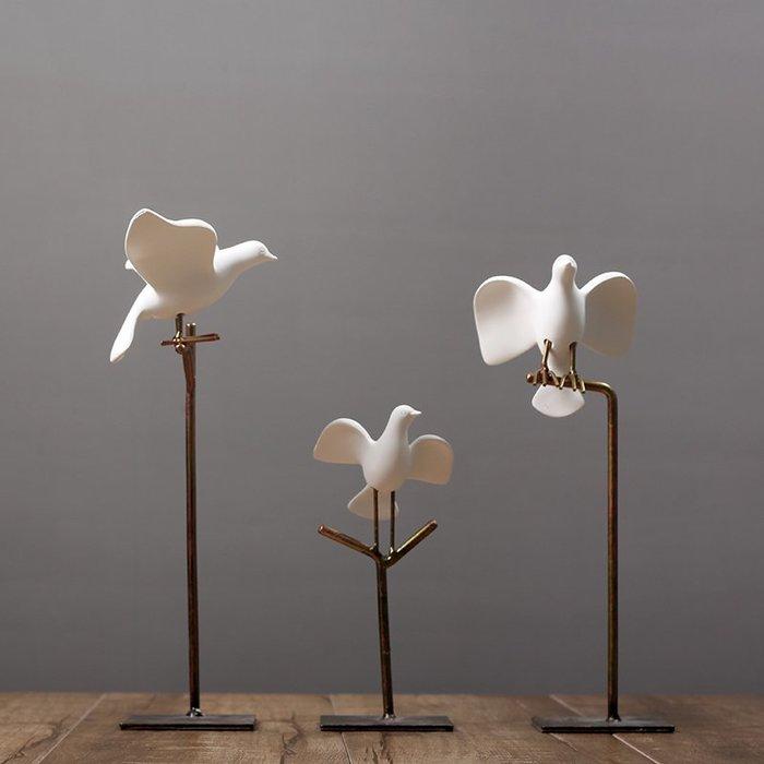 〖洋碼頭〗ins北歐風格裝飾擺件簡約鴿子創意現代家居客廳樣板房裝飾品擺設 hbs330