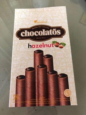 Gery 捲心酥 (榛果巧克力味) 320克 盒裝 奶素