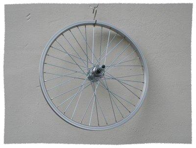 ~意生~ 20吋單層鋁圈 鍍鋅鋼絲 鎖牙式花鼓 變速後輪