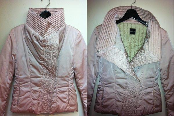 【100%真品】義大利品牌 MAXMARA 旗下PENNYBLACK 粉色立領/大翻領修身鋪棉外套