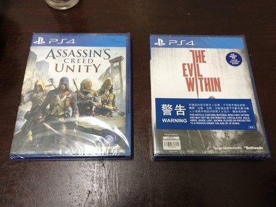 PS4 Assassins Creed Unity and The Evil Withn