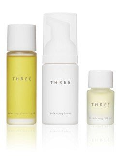 【Q寶媽】THREE 平衡潔膚油R 30ml + 平衡洗顏慕斯R 30ml + 平衡晶摩油R 2.5ml