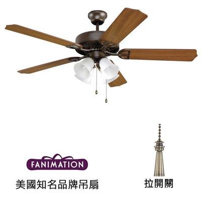 Fanimation Aire D'ecor 52英吋吊扇附燈(BP215OB1)油銅色 適用於110V電壓
