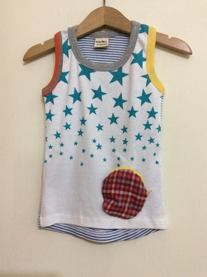 媽媽咪呀~Mamma Mia韓國童裝 過季零碼出清!星星條紋口袋背心