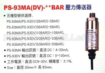 【米勒線上購物】壓力計 Lutron PS-93MA 壓力傳送器  XX-BAR