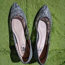 新款韩版蕾丝网面镂空透气女单鞋尖头 shoe