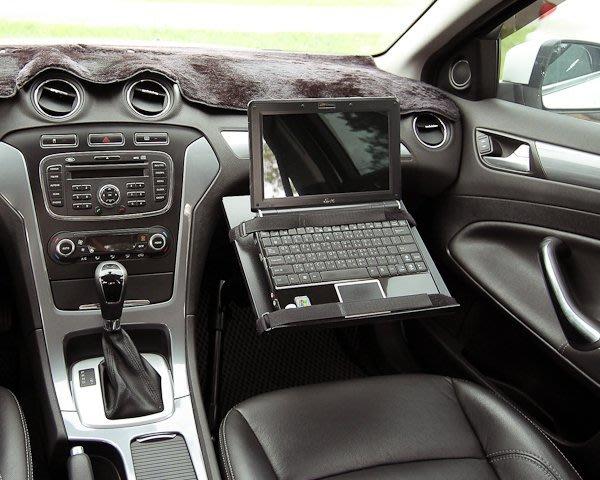 軌道式 車用筆電架_束帶式托盤 ALPHA100N / 車內筆電架 車用桌 車用工作台-ErgoMap人因地圖