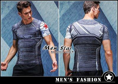 【Men Star】免運費 復仇者聯盟3 酷寒戰士 巴奇 運動衣 短T 媲美 Dickies SMUDGE SQUAD