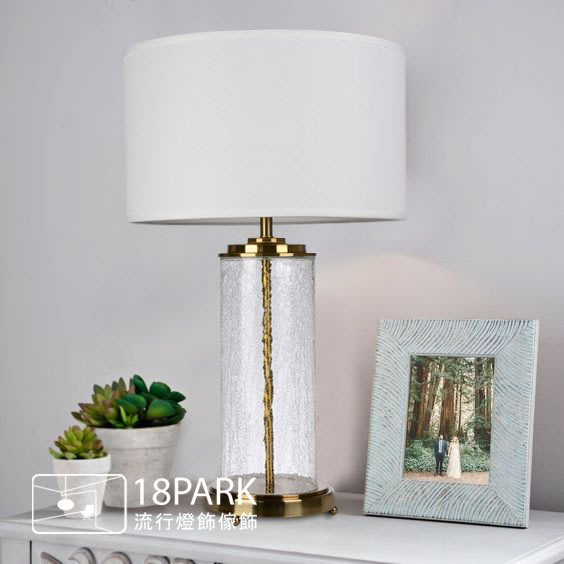 【18Park 】玻璃金屬  Gold table lamp [ 金品檯燈 ]