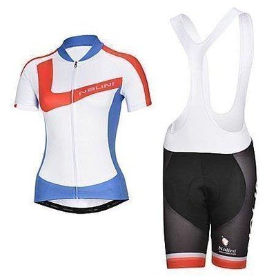 2014年款NALINI 紅藍女款 新車衣車褲背帶短套裝新 自行車服 單車服 排汗透氣騎士服