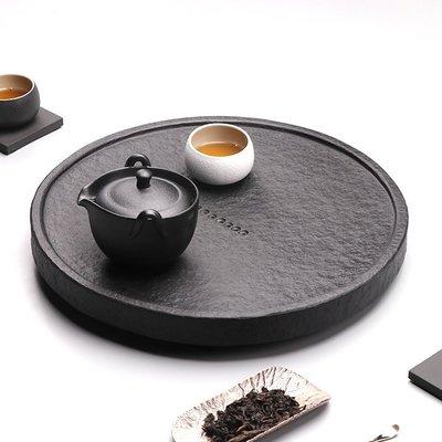 【睿智精品】石茶盤 功夫茶盤 茗茶 泡茶石盤 烏金石茶盤(GA-4409)