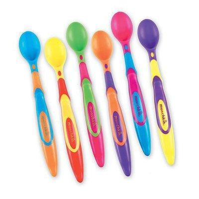 [小寶的媽] 美國Munchkin 兒童彩色安全湯匙6入 餵食湯匙(6-Pack Soft-Tip Infant Spoons )