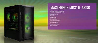 『高雄程傑電腦』 酷媽 CM Cooler Master MB311L ARGB 僅M-ATX 現貨供應【實體店家】