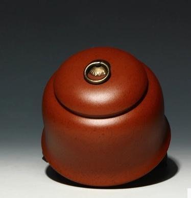 【普洱茶葉罐-紫砂-長12高12口徑8...