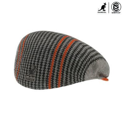KANGOL 504 SWITCHBOAED DESCRIPTION 黑/橘 棉質報童帽 小偷帽 彈性小偷帽 正版