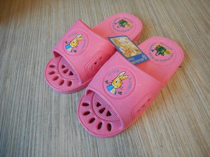 ~~凡爾賽生活精品~~全新比得兔媽媽粉紅色亮彩小孩浴室拖鞋