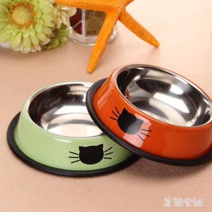 不銹鋼寵物碗加厚防滑貓碗狗碗寵物貓咪小狗單碗食具 SH517