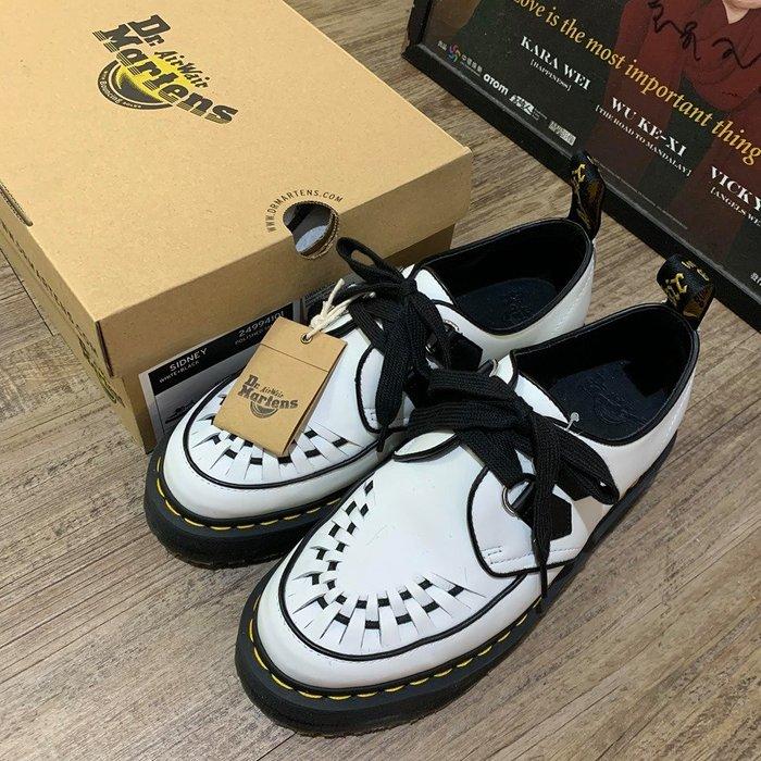 【Rock Vintage搖滾古著】Dr.Martens 厚底編織尖頭鞋「Quad Creepers」黑白 黑已完售!