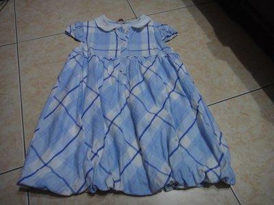 芳嘉二手小鋪~春夏~安妮公主藍色長版上衣~150