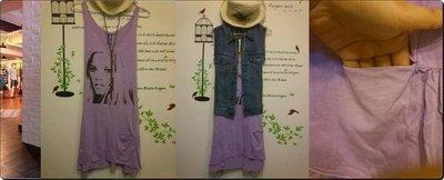 日本漾族愛牌CPC SCAMP超美薰衣草紫 個性的洋裝~下擺不規設計增加了與眾不同的連身獨特感(NO.500)