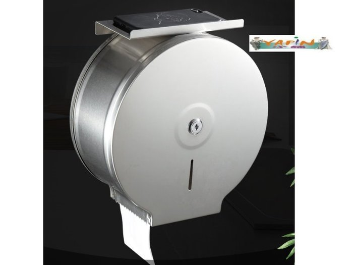 【yapin小舖】公共衛生空間/清潔用品/不鏽鋼 擦手紙架/衛生紙紙架/大型圓型插手紙架