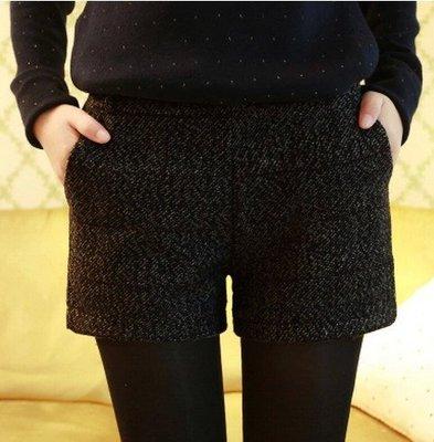 {{芋頭小品}}特價中~韓版冬款孕婦裝孕婦毛呢短褲(厚)超優質感 超顯瘦 托腹+腰可調 (ST06)