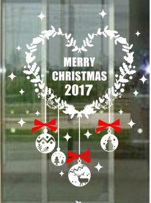小妮子的家@2017雞年聖誕快樂壁貼/牆貼/玻璃貼/磁磚貼/汽車貼/家具貼