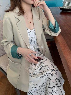集美屋韓國女裝春季2019新款正韓兩粒扣長袖網紅休閒小西裝女裝復古chic氣質外套