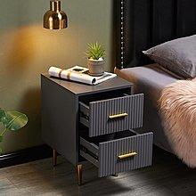 床頭櫃輕奢床頭柜40cm簡約現代北歐風迷你臥室小型30極簡灰床邊柜免安裝收納