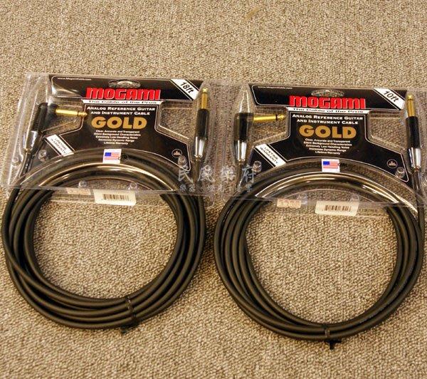 《民風樂府》 美國製 MOGAMI GOLD-10R 10呎 木吉他 電吉他 電貝斯 鍵盤 專業樂器導線