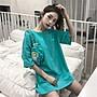 小香風 短袖T恤 時尚穿搭 韓版 寬松字母原宿風短袖T恤女網紅ins港味半袖體恤上衣打底衫